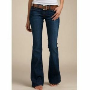 Lucky brand distressed flare jeans